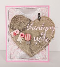 Thinking of You, by Patricia Roebuck, using the Lasting Love kit.
