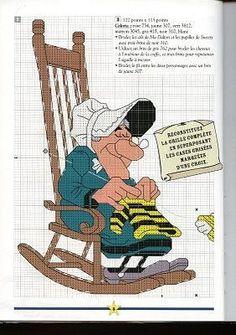 sandylandya@outlook.es  Gallery.ru / Фото #4 - PONTO CRUZ ... - amor-sobrenatural Cross Stitch For Kids, Cross Stitch Love, Cross Stitch Charts, Cross Stitch Embroidery, Cross Stitch Patterns, Lucky Luke, Stitch Character, Stitch Cartoon, Cartoon Movies