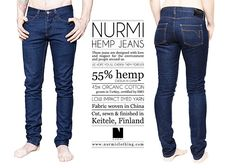 Nurmi hemp jeans