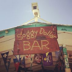 Favorite place on earth...Voted best beach bar in the world, Soggy Dollar Bar, Jost Van Dyke, British Virgin Islands