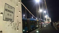 Drawing on bridges in Budapest eirians.wordpress.com