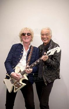 Jimmy Page and Ian Hunter at the Mott The Hoople Concert
