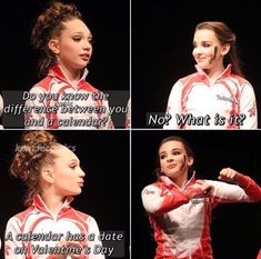 "Dance Moms Source by passionatecoach Related posts:Which 'Dance Moms' Girl Are You Based On The Clothes You Buy?Which ""Dance Moms"" dancer do you look like? Dance Moms Quotes, Dance Moms Funny, Dance Moms Facts, Dance Moms Girls, Stupid Funny Memes, Funny Relatable Memes, Funny Quotes, Hilarious, It's Funny"