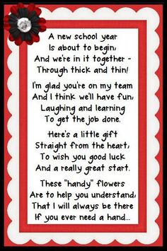 Could be for a teacher friend, new teacher, or reworked slightly to be given to your child's new teacher at open house.