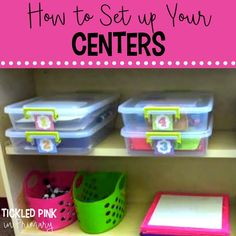 Learn how to organize and set up your literacy and math centers for the beginning of the year.