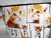 Katzentasche, Kulturtasche, Kosmetiktasche Katzen