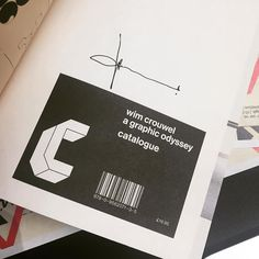 #Repost @elesuggett who managed to get their hands on a copy of our exhibition catalogue for Wim Crouwel a graphic odyssey  Best parcel ever. Signed by the man himself! #design #wimcrowel #uniteditions #designermakeruser #designmuseum