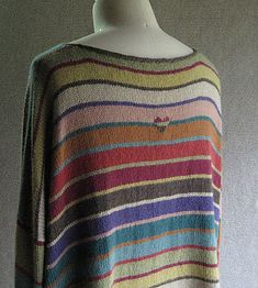 """""""Milano,"""" pattern by Carol Sunday.  LOVE this sweater with it's sweet little heart on the back... Love the colors, love the yarn..."""