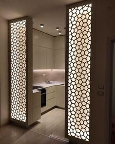 Chic Glass Partition Design Ideas For Your Living Room 46 - Ceiling design Glass Partition Designs, Living Room Partition Design, Pooja Room Door Design, Glass Wall Design, Partition Ideas, Partition Walls, Ceiling Design Living Room, Living Room Divider, Kitchen Room Design