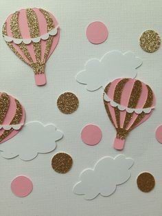 shop: Hot air balloon confetti Excited to share this item from my Hot Air Balloon Clipart, Hot Air Balloon Cake, Diy Hot Air Balloons, Baby Shower Deco, Baby Girl Shower Themes, Baby Shower Balloons, Vintage Birthday Parties, 2nd Birthday Party Themes, Hot Air Balloon Centerpieces