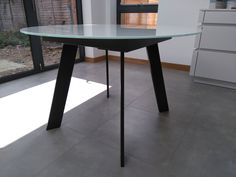 Fixed version of Moon dining table. Top in White Glossy Glass and frame Matt Graffito. Available in other sizes and configurations. Delivered to our client in Cheltenham. Leather Bed, Sofa Design, Modern Bedroom, Contemporary Furniture, Dining Table, Moon, Cabinet, Glass, Frame