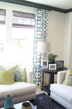 living room + fabric