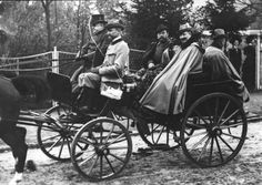 Kaiser Wilhelm II of Germany riding through the streets of Berlin with Tsar Nicholas II of Russia in 1900 -