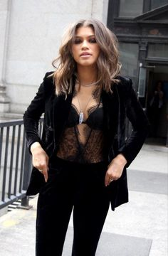 Lace bralette, sheer blouse with bralette, sexy chic, black velvet