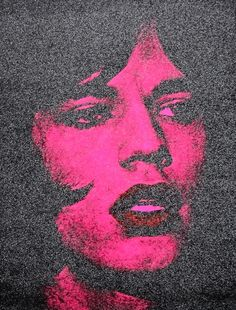 Russell Young - Jagger (hot pink + Black + Red lips