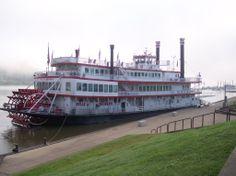 Riverboat docked in Huntington, WV