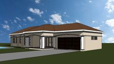 3 Bedroom house plan, a truly South African House Design Four Bedroom House Plans, Tuscan House Plans, Free House Plans, Simple House Plans, Garage House Plans, Modern Courtyard, Courtyard House Plans, House Plans South Africa, One Storey House