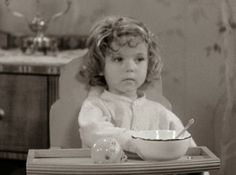 """Shirley Temple, age three, in a """"Baby Burlesk"""" short."""