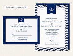 DIY Printable Nautical Invitation - Wedding Invitation - Nautical Save the Date - Anchor - Printable Invitation & Reply - Table Numbers on Etsy, $39.80 AUD