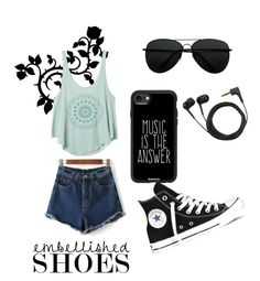 """Untitled #35"" by razaibrahimovic ❤ liked on Polyvore featuring Converse, Sennheiser, Casetify and RVCA"