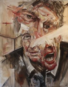 "Saatchi Online Artist: Wyatt Mills; Oil, 2012, Painting ""Father"" i really like how its put together, it has a lot of emotion (it doesnt hurt that it makes me think of dr who)"
