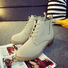 Find More Women's Boots Information about shoes 2015 for woman boots Free shipping autumn fashion ankle leather boots for women thick matte leather double zipper,High Quality boots snake,China boots show Suppliers, Cheap boots nylon from ivan style on Aliexpress.com