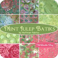 MAY 13---Mint Julep Batiks Yardage Hoffman Fabrics - Fat Quarter Shop