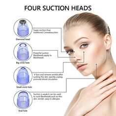 The suction power is bigger than the traditional blackhead suction machine. Stronge suction, the suction power is bigger than the traditional blackhead suction machine. Get Rid Of Blackheads, Blackhead Vacuum, Blackhead Remover, Natural Hair Mask, Wrinkle Remover, Skin Problems, Skin Care Tips, Beauty Makeup, Shopping