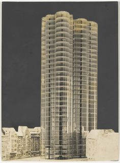 Ludwig Mies van der Rohe (1886-1969) |  Glass Skyscraper project, View of lost model, No intended site known | 1922