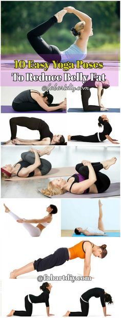 10 Easy Yoga Poses To Reduce Belly Fat #Fitness, #Yoga, http://www.fabartdiy.com/10-easy-yoga-poses-reduce-belly-fat/