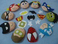 Felt superheroes