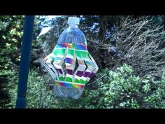 Recycled Plastic Bottle Wind Spinner - Crafts by Amanda - http://craftsbyamanda.com/2013/06/recycled-plastic-bottle-wind-spinner.html