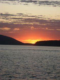 Sunset on the Bay, Bellingham WA