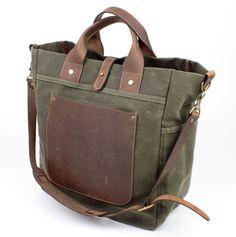 Workers N.Y., SoHo Bag Military Green - Canvas bags handmade in USA | Workers N.Y.