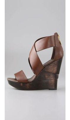 #Opal Crisscross Wedge Sandals
