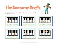 Halloween worksheet for identifying half steps and whole steps. My students really need this!
