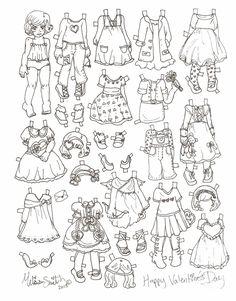Miss Missy Paper Dolls: Valentine's Day Doll