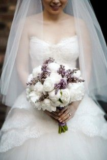 I love the white flowers, with small patches of blue for my wedding