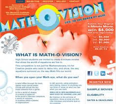 Math-O-Vision Video Contest for high school students. Deadline May 1.