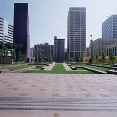 Clássicos da Arquitetura: Pershing Square / Ricardo Legorreta + Laurie Olin | ArchDaily Brasil