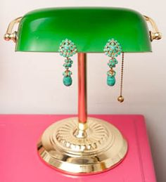 Vintage style Turquoise earrings.