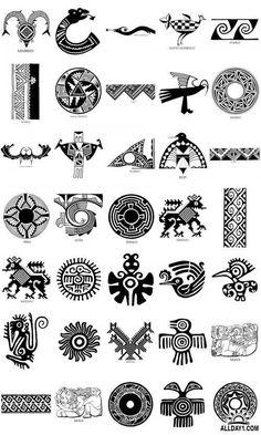 Native American Patterns, Native American Symbols, Native American Fashion, Aztec Symbols, Mayan Symbols, Haida Art, Aztec Art, B 13, Southwest Art