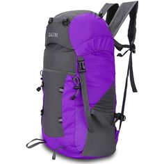 Kalusi Large 35l Lightweight Waterproof Hiking Daypack ,Foldable Outdoor Backpack *** Trust me, this is great! Click the image. : Hiking packs