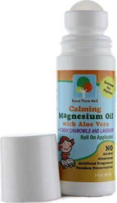 Kid Safe Calming Magnesium Oil with Roman Chamomile and Lavender Essential Oils. Blended with Aloe Vera so It Won't Burn or Itch. Easy Roll on Applicator. Magnesium For Sleep, Best Magnesium, Magnesium Oil, Calming Oils, Calming Essential Oils, Autism Diet, Easy Rolls, Vitamins For Kids, Oils For Sleep