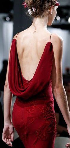 Zac Posen | S/S 2014 - backless red dress