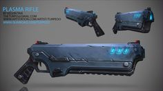 Texture Tutorial - Hand Painting a Sci-Fi Rifle by Kelvin Tan https://gumroad.com/turpedo