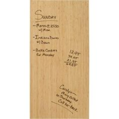 "Bamboo Dry Erase: Eco-friendly bamboo veneer over engineered wood. Wipes down with a clean, dry, cloth. 31.5 x .75 x 15.75"" $59.95 #Dry_Erase_Board #Bamboo"