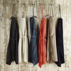 Striped apron, Tablier 100% linen - MERCI