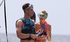 English footballer Scott Parker and his wife take a snorkelling trip while on holiday in Barbados