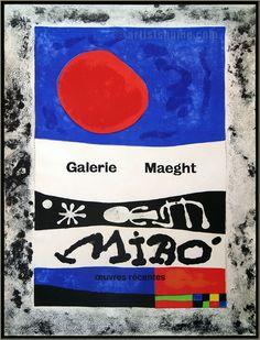 Joan Miró: Oeuvres récentes, Maeght 1953, Lithographie originale | Affiches Mourlot | Affiches d'expositions